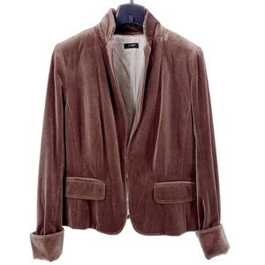 "J. Crew ""Ecole"" Brown Velvet Fully Lined Jacket"